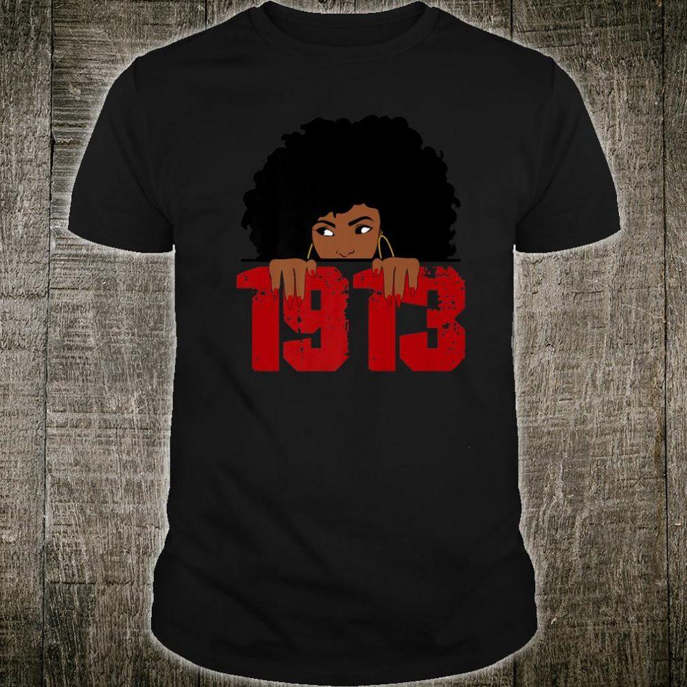 Delta Sorority DST 1913 Sigma Theta Paraphernal Black Shirt