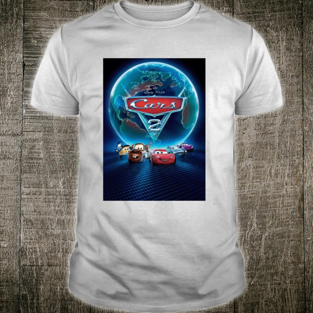 Disney Pixar Cars 2 Classic Movie Poster Shirt