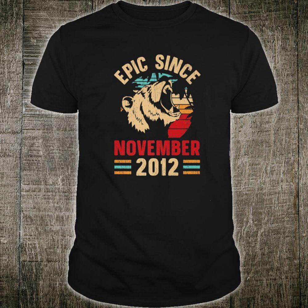 Epic Since November 2012 7th Birthday Vintage Retro Shirt