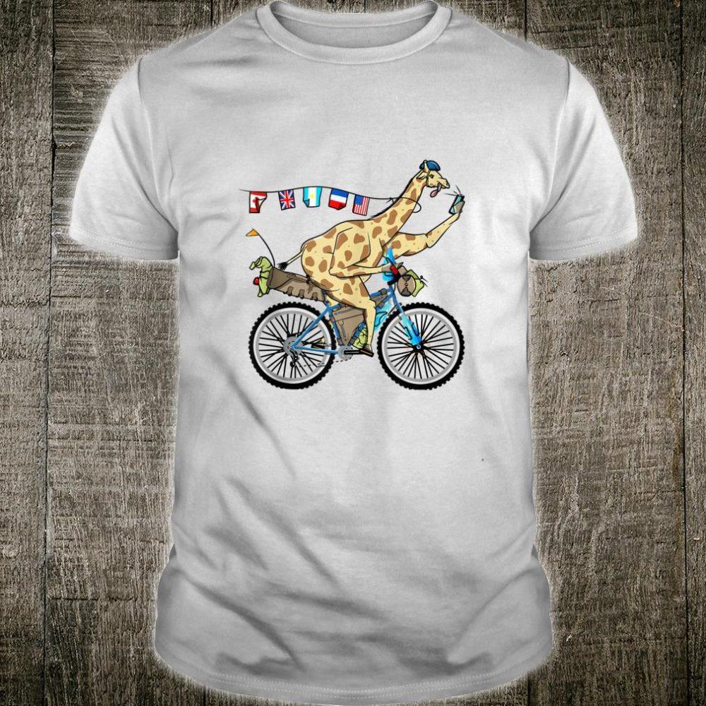 Giraffe bikepacking bicycle cycle touring Shirt