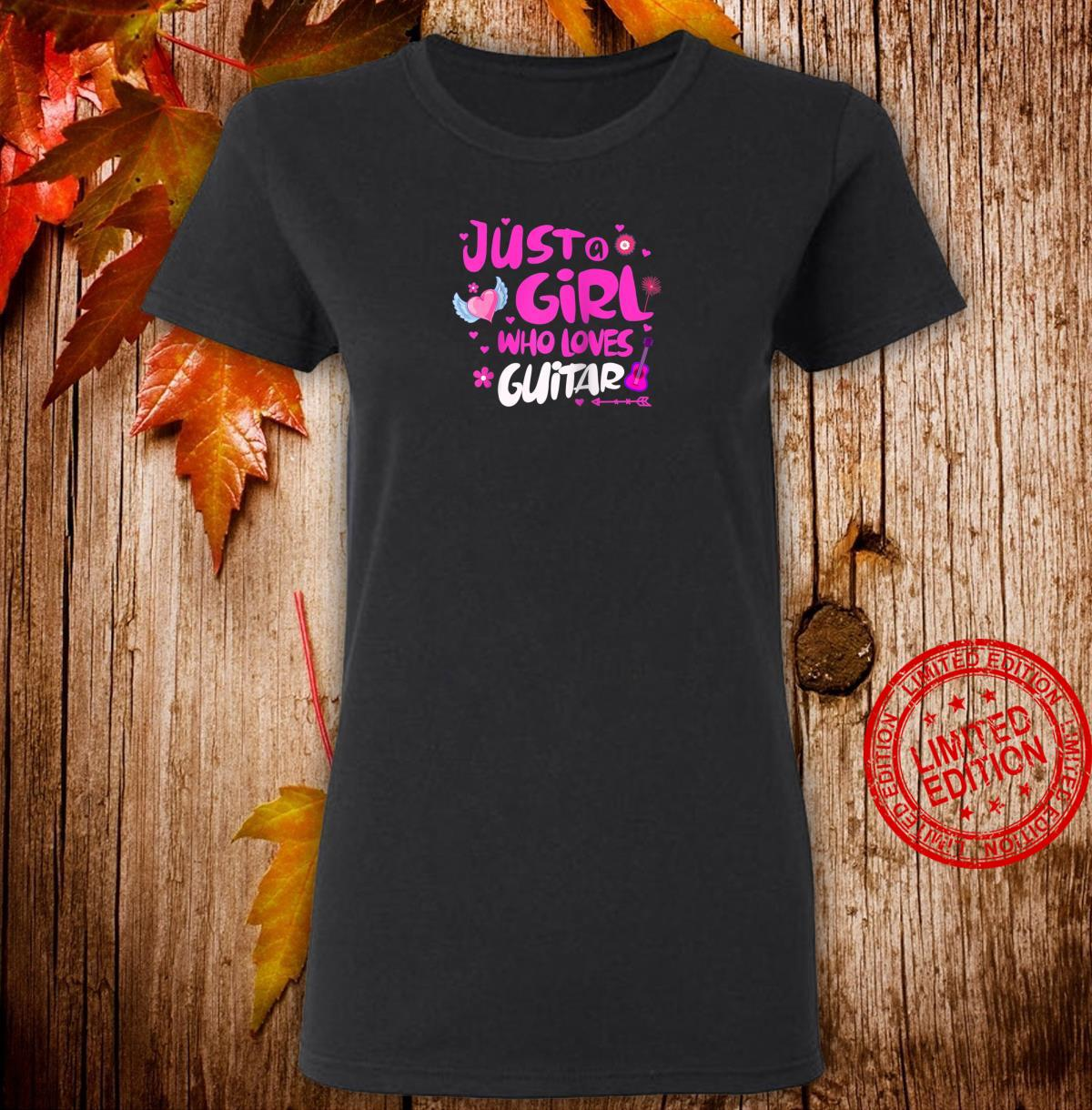 Just a Girl Who Loves Guitar Shirt ladies tee