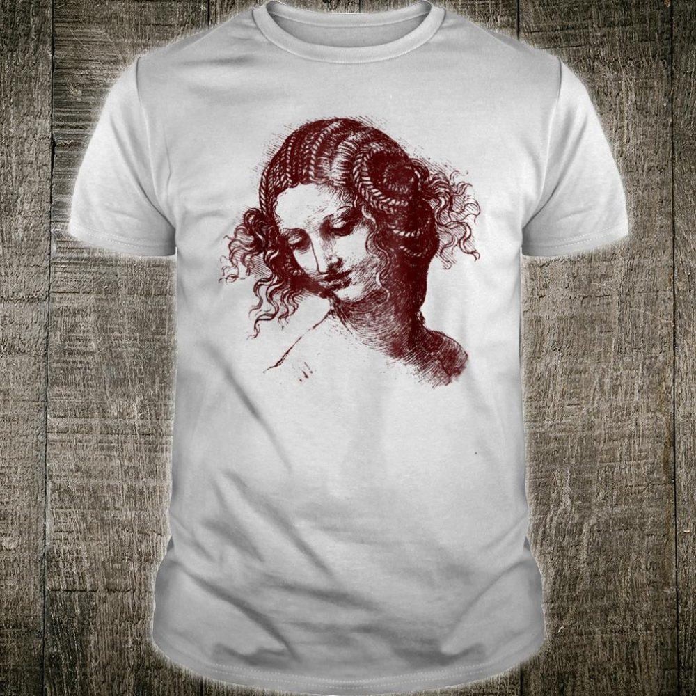 Leonardo da Vinci Leda Shirt Beautiful Female Head Shirt