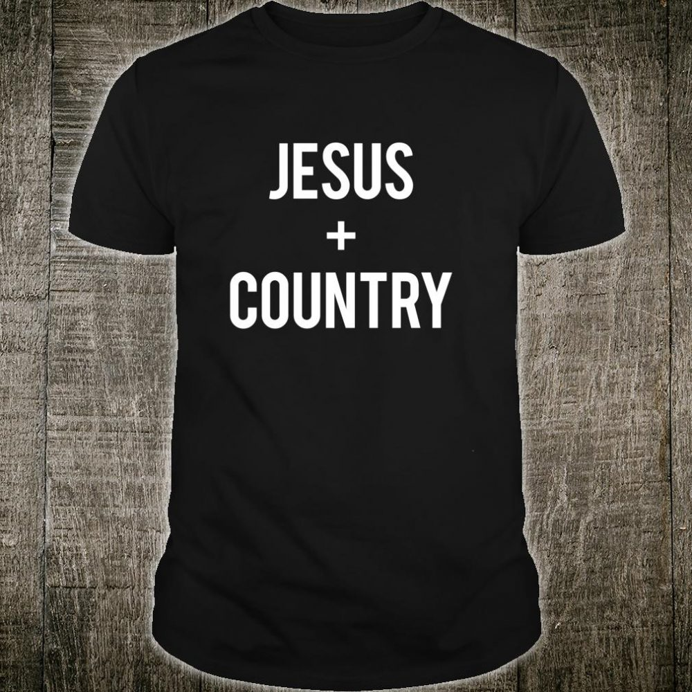 Love Jesus And Country Western Music Christian Shirt