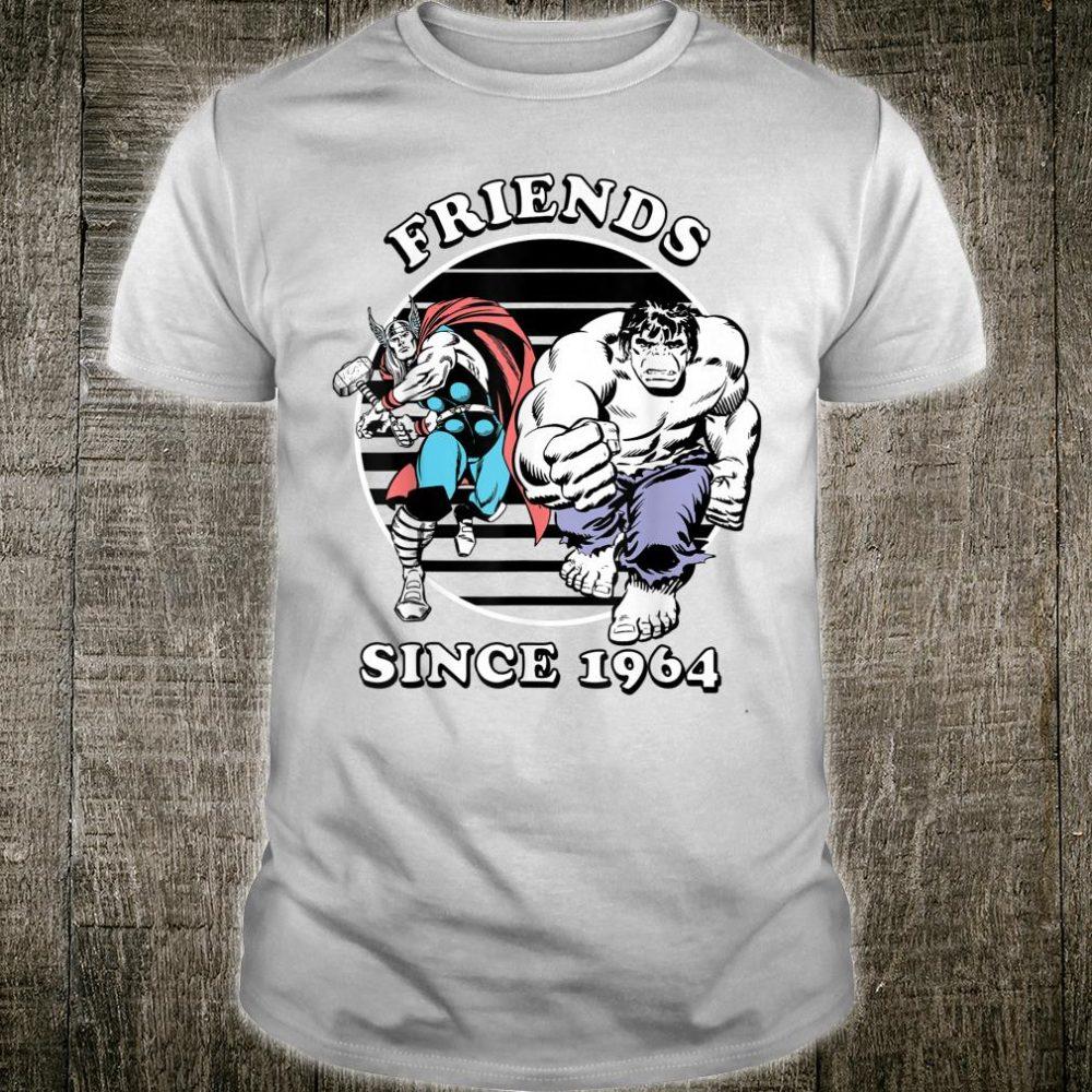 Marvel Thor & Hulk Friends Since 1964 Badge Shirt