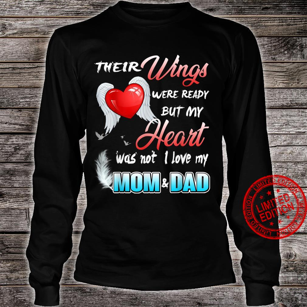 Mom & Dad My Angels, in Memory of Parents in Heaven Shirt long sleeved