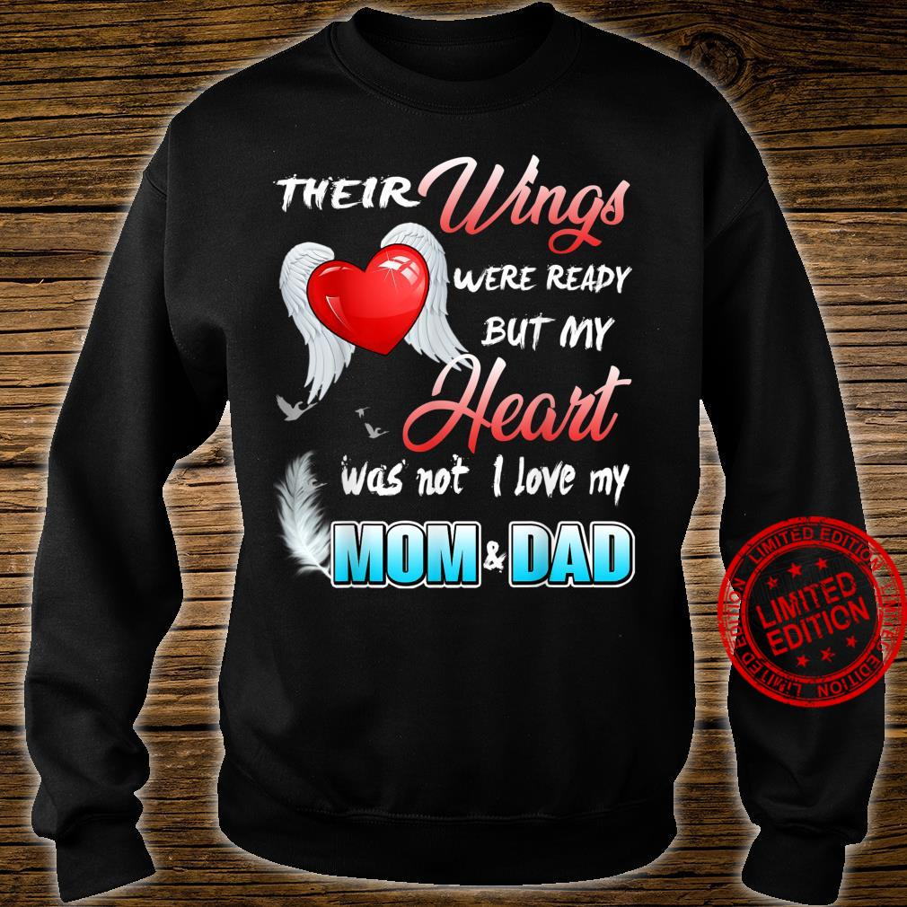 Mom & Dad My Angels, in Memory of Parents in Heaven Shirt sweater