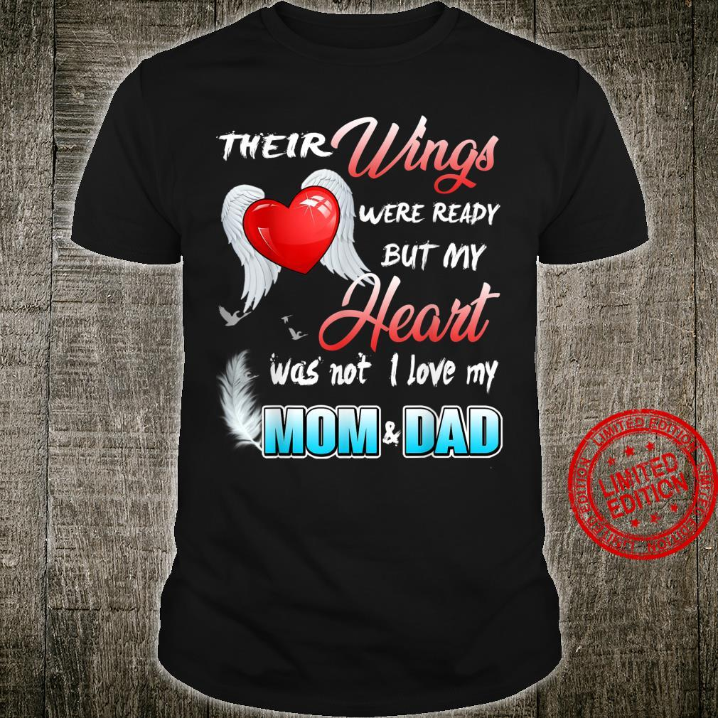 Mom & Dad My Angels, in Memory of Parents in Heaven Shirt