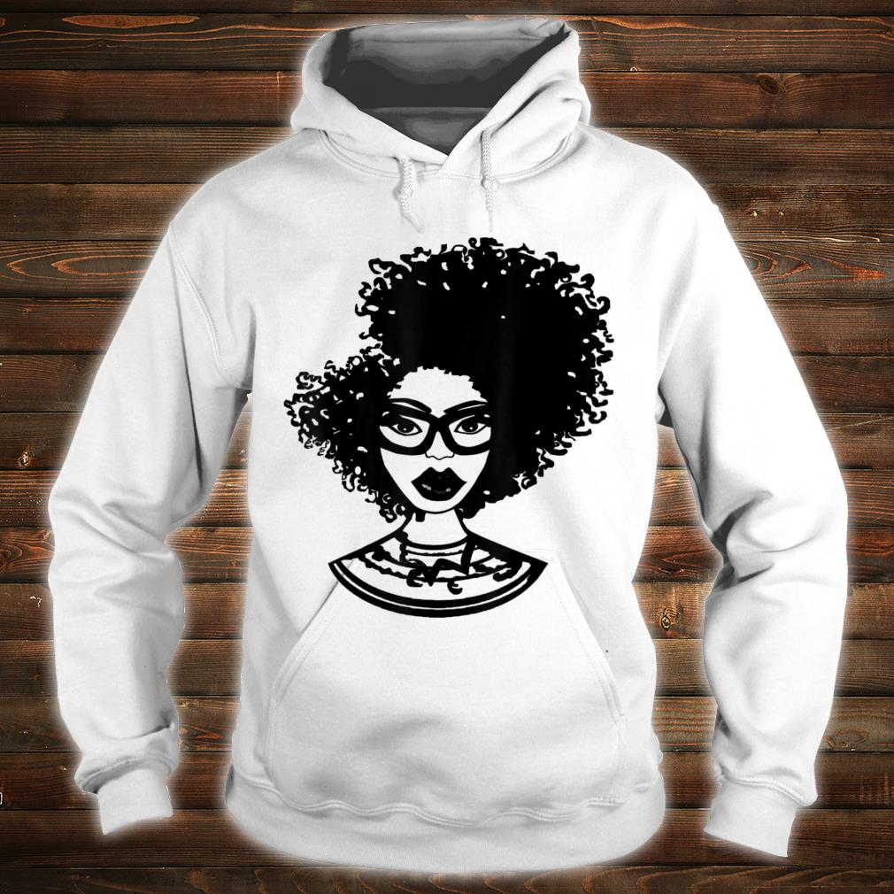 Natural Hair for Black Women Defined Afro Design 1 Shirt hoodie