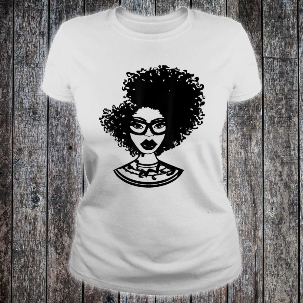 Natural Hair for Black Women Defined Afro Design 1 Shirt ladies tee