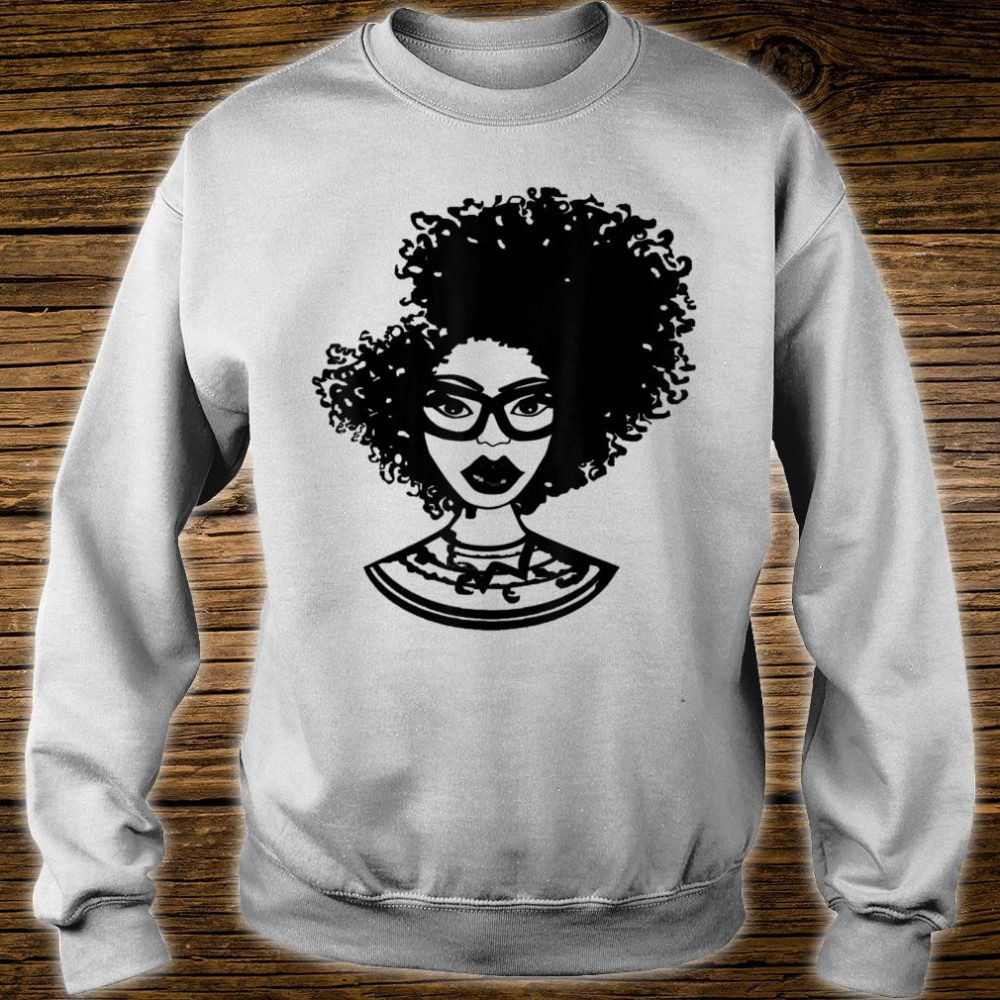 Natural Hair for Black Women Defined Afro Design 1 Shirt sweater
