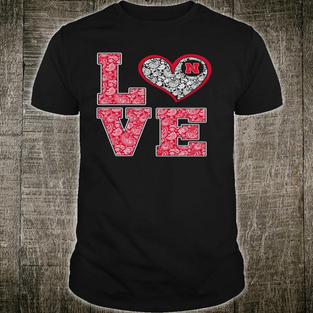 Nebraska Cornhuskers Stacked Love Tailgating Tailgate Shirt