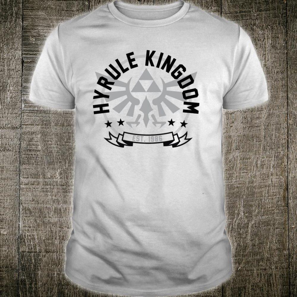 Nintendo Legend Of Zelda Hyrule Kingdom Est 1986 Poster Shirt