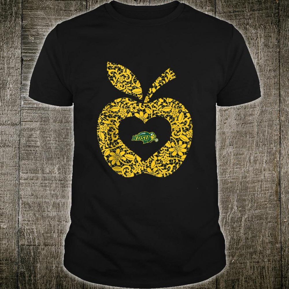 North Dakota State Bison Teacher Lace Apple 2 Team Shirt
