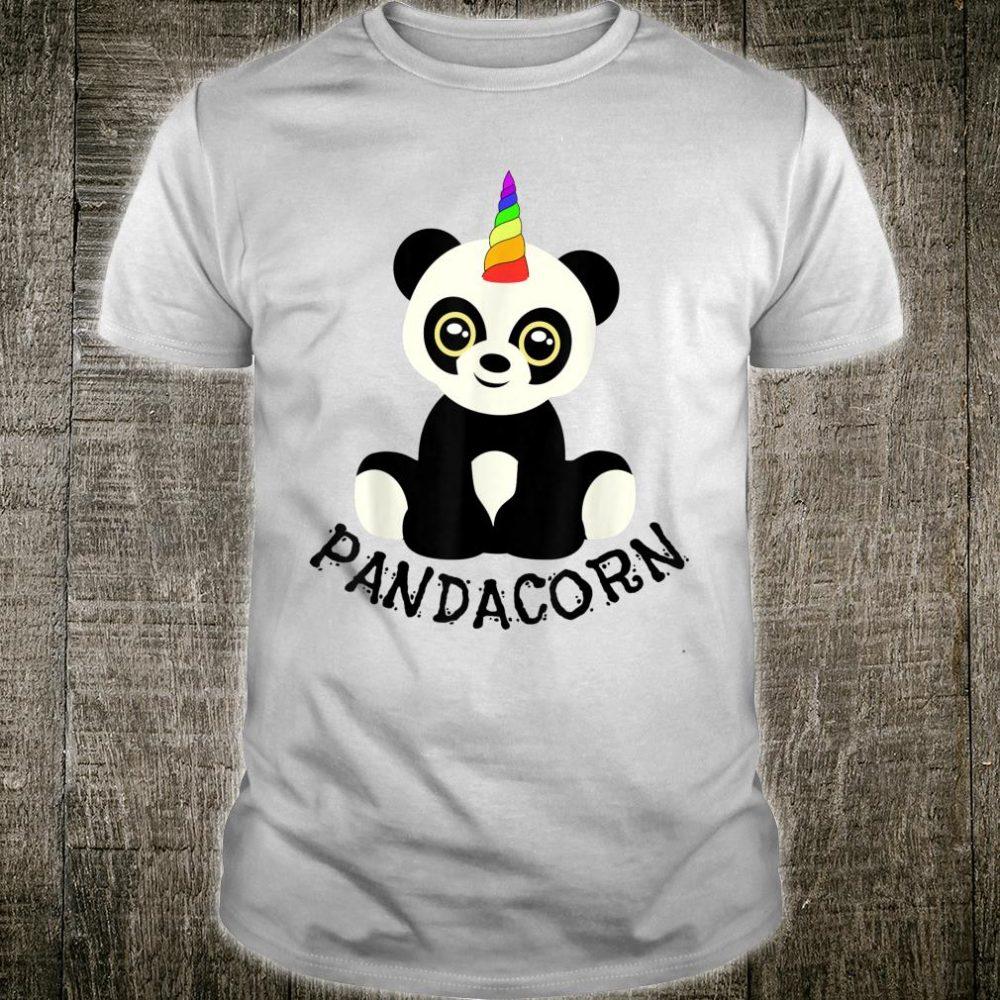 Pandacorn Rainbow Horn Unicorn Panda Shirt