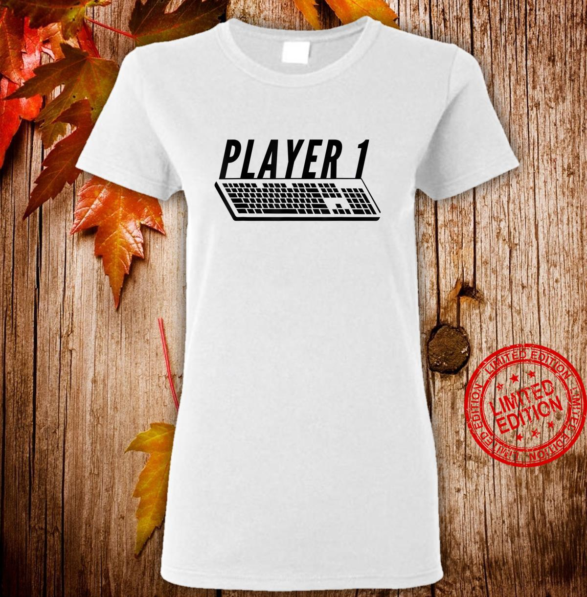 Player 1 PC Gamer Master Race For Gamer Couples Shirt ladies tee