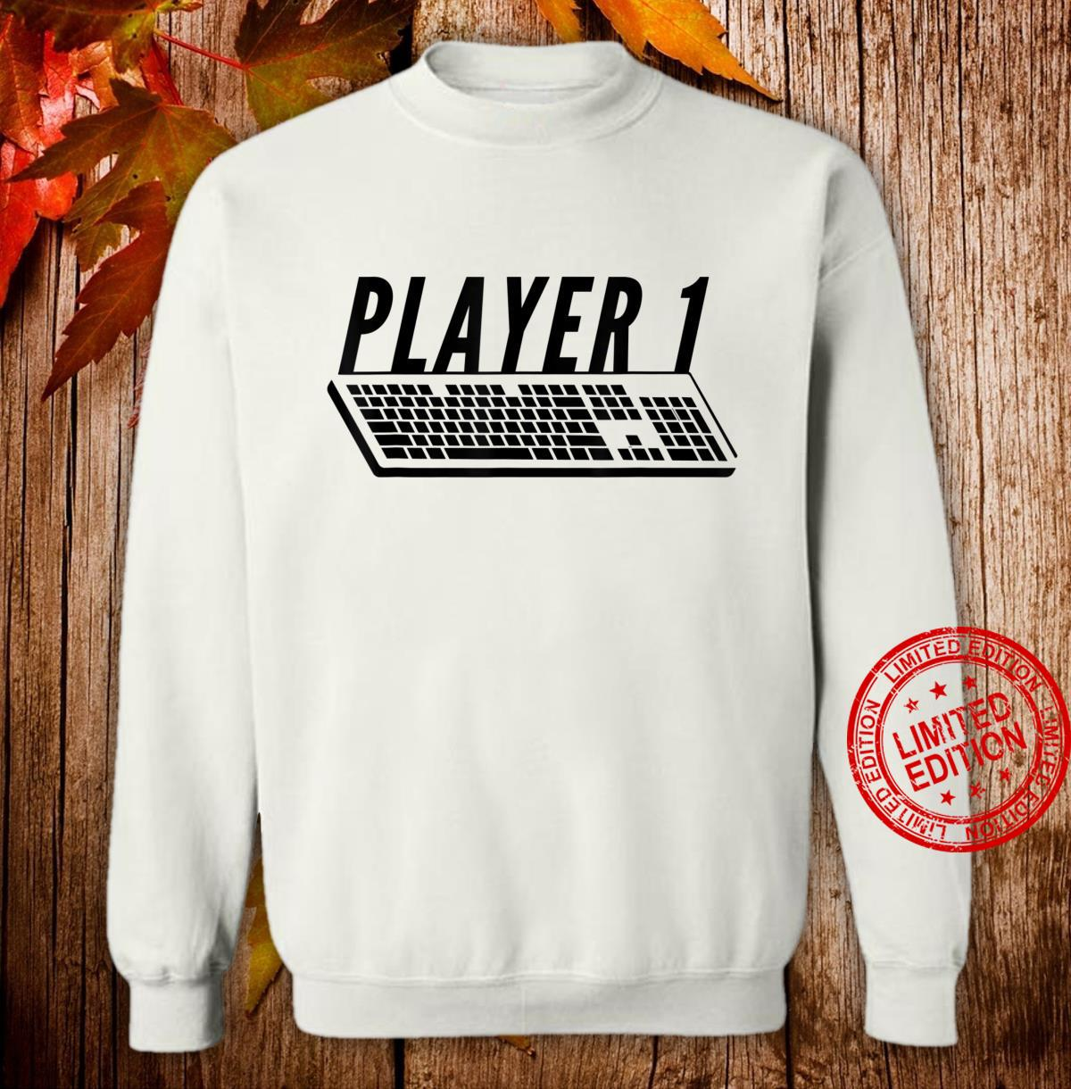 Player 1 PC Gamer Master Race For Gamer Couples Shirt sweater
