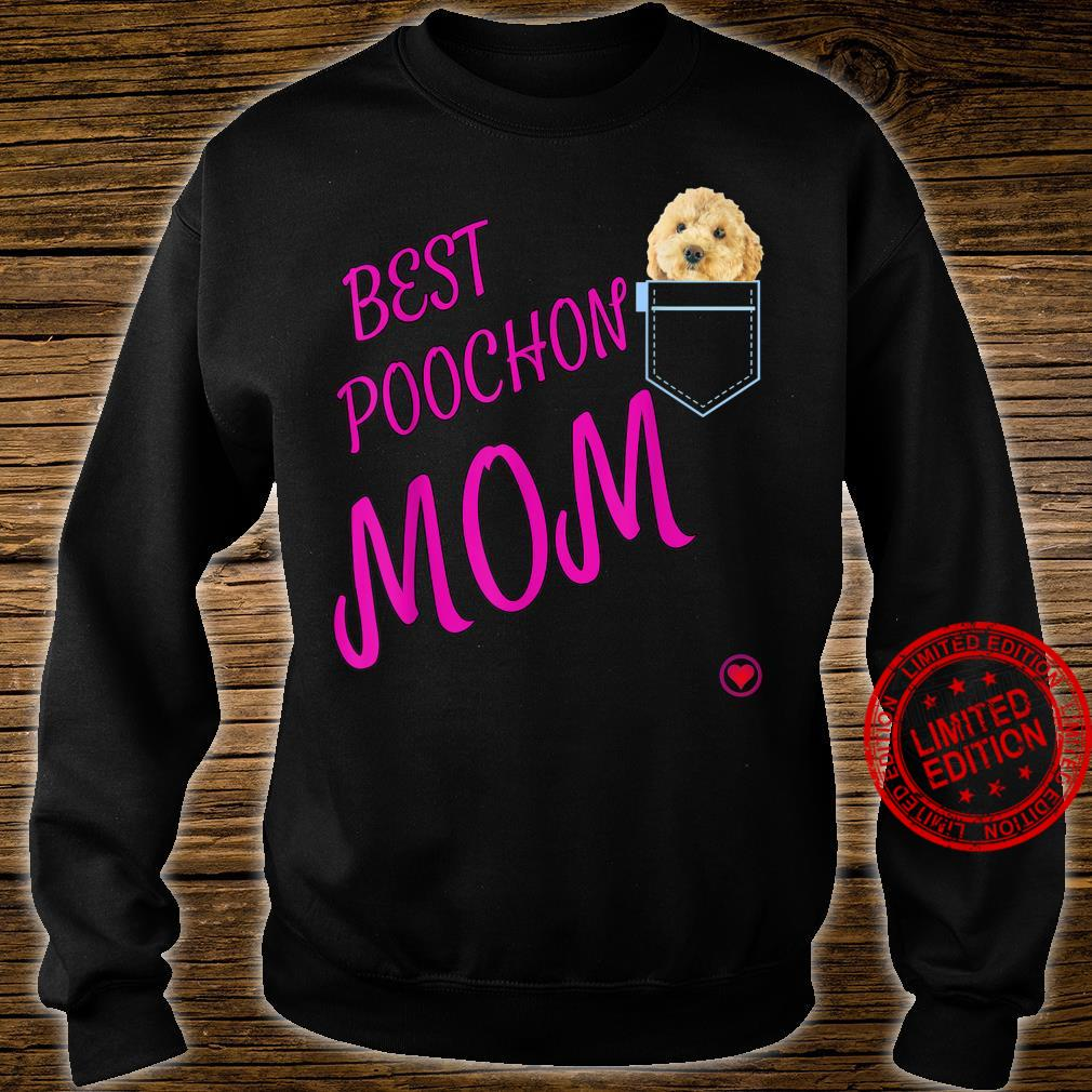 Poochon Mum in pocket Puppy Dog Cute Poodle cross Shirt sweater