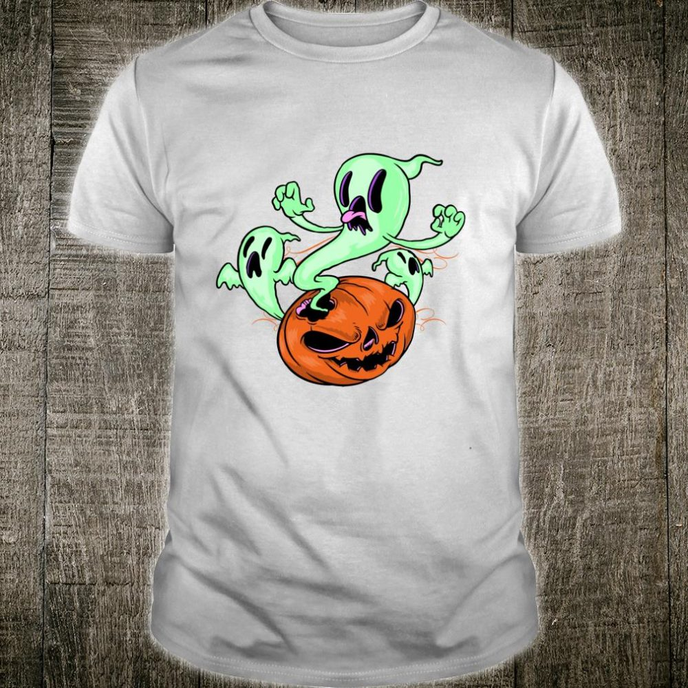 Pumpkin, Goblins and Ghosts Creepy Halloween Day of the Dead Shirt