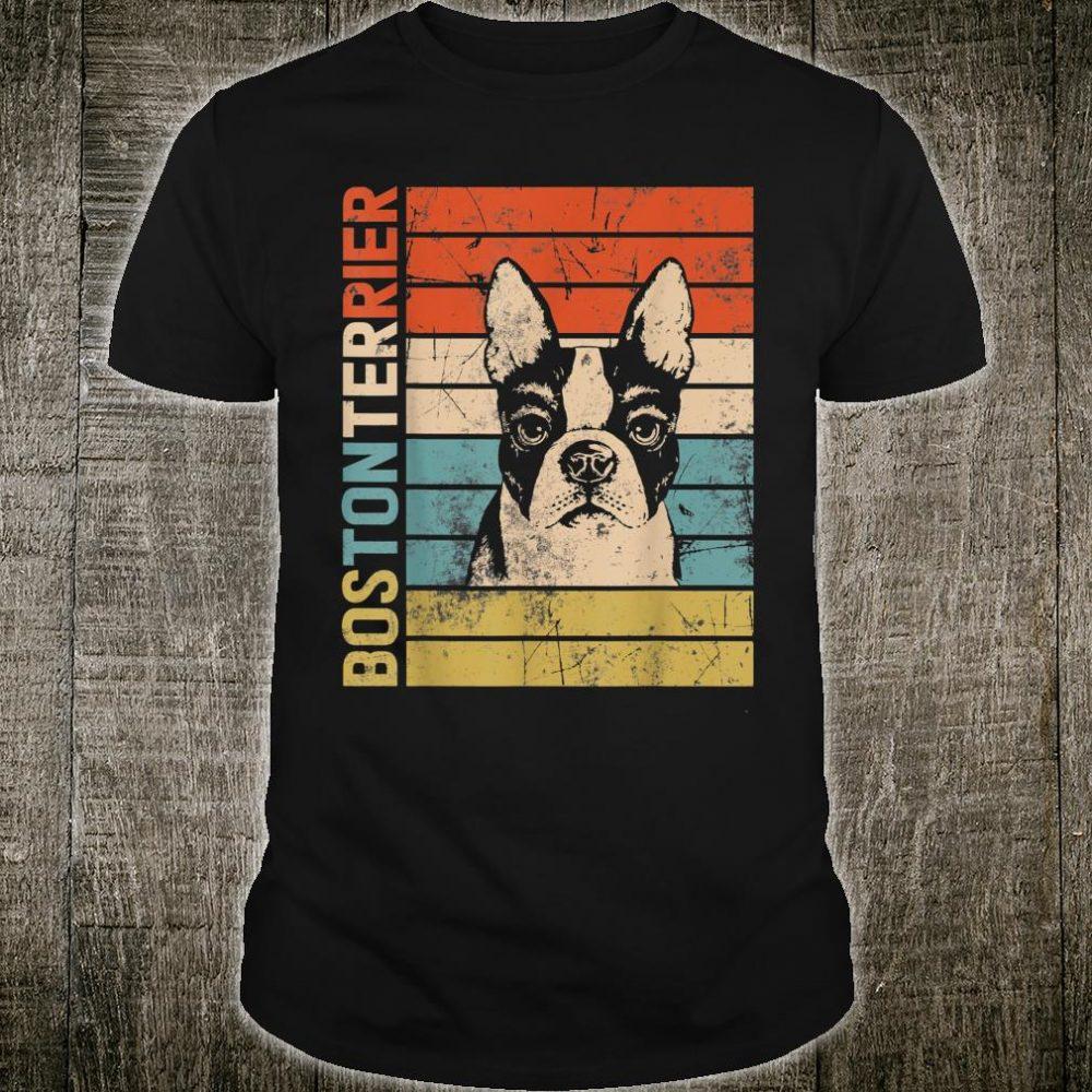 Retro Vintage Boston Terrier Dog Dad Dog Mom Shirt