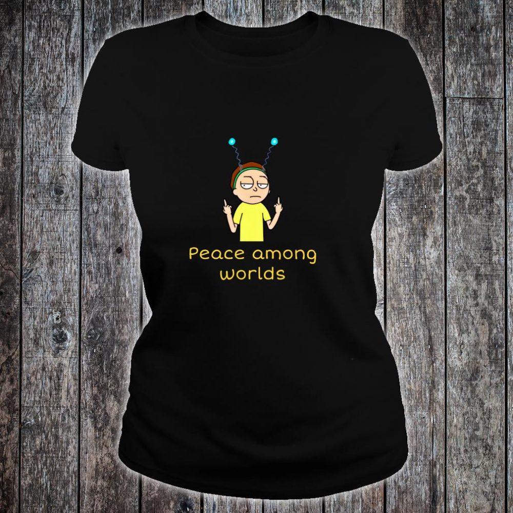 Rick Sanchez Peace Among Worlds Alien Shirt ladies tee