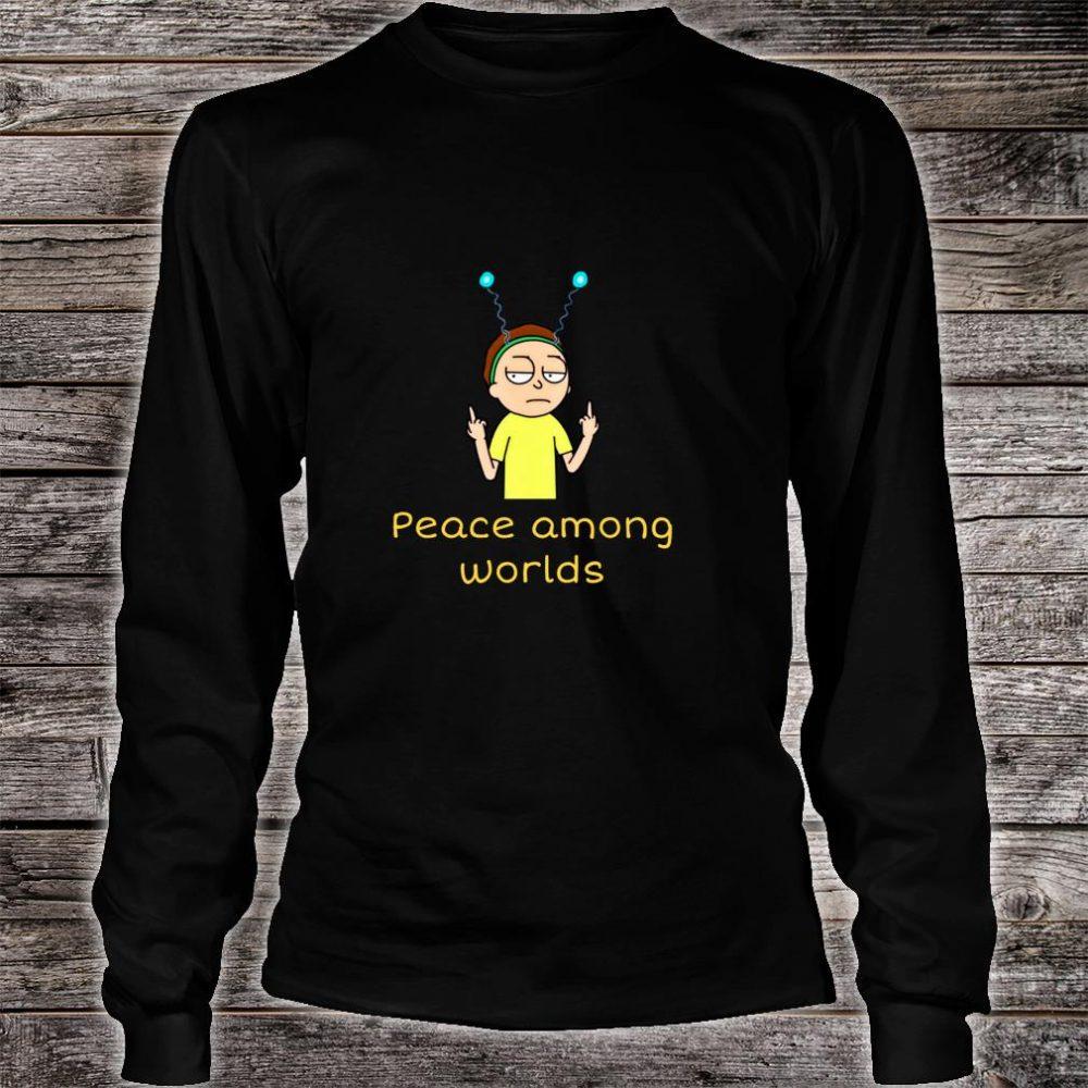 Rick Sanchez Peace Among Worlds Alien Shirt long sleeved