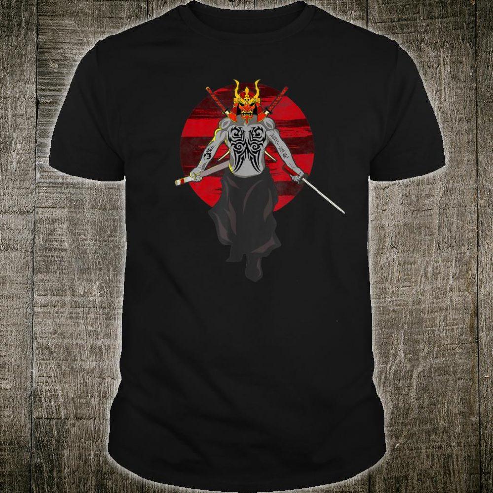 Samurai Sword Japanese Novelty Tattooed Samurai Warrior Shirt