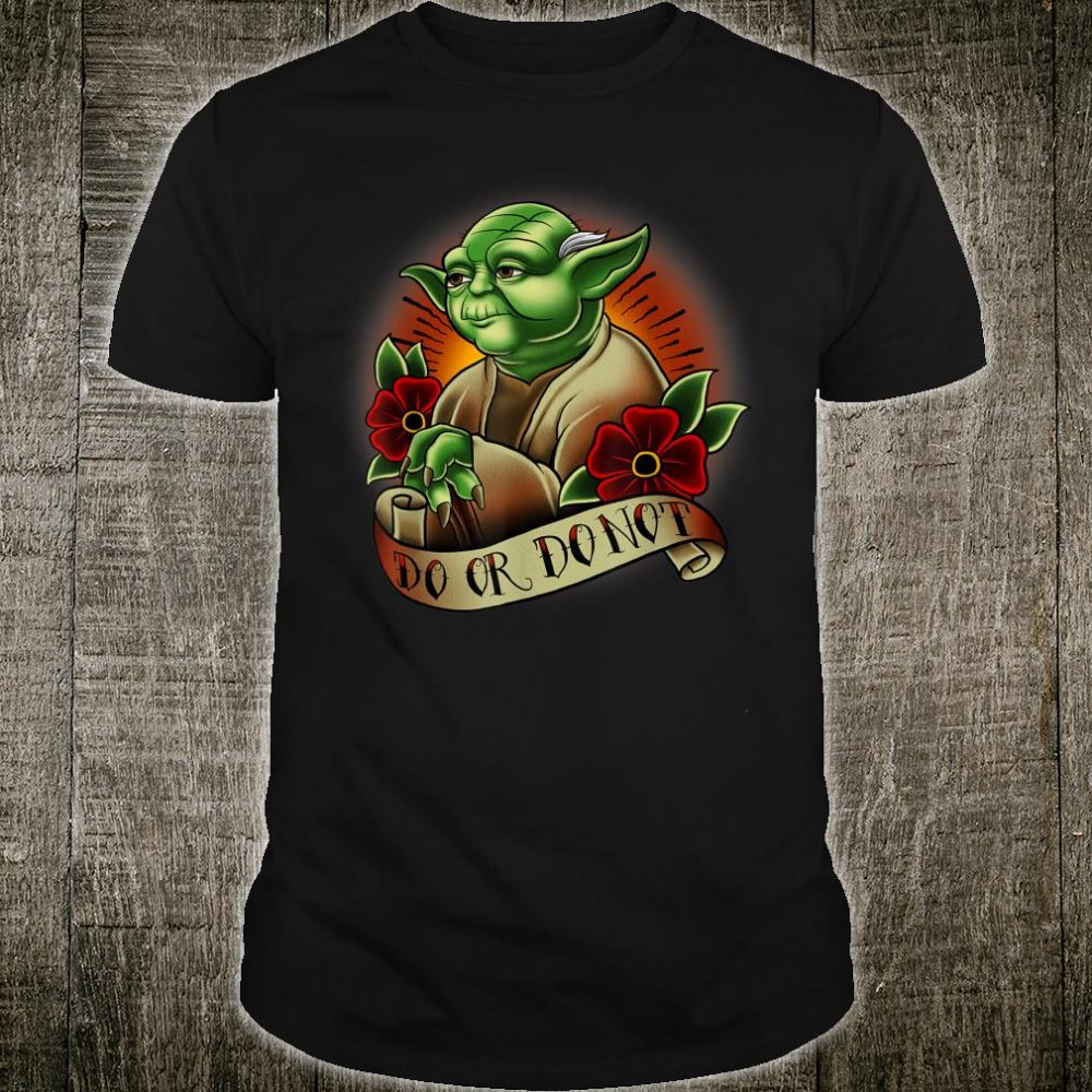 Star Wars Yoda Tattoo Flash Shirt