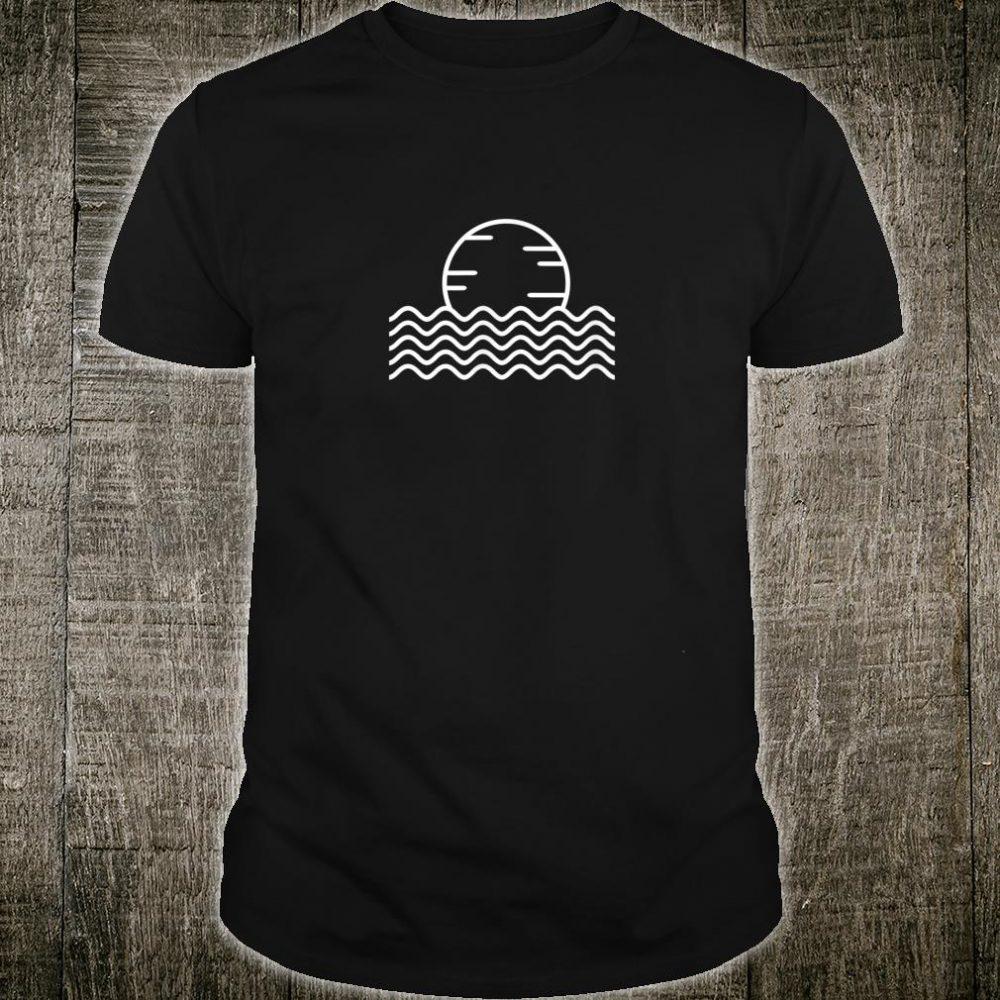 Sun wave Minimalistic Art For Good Vibes Summer Season Shirt