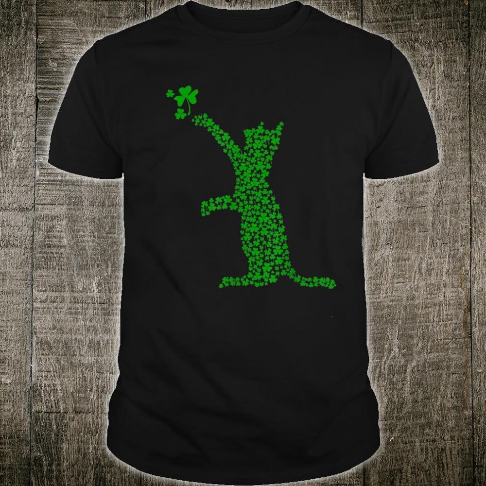 The Cute Cat Green Irish Shamrock St.Patrick's Day Shirt