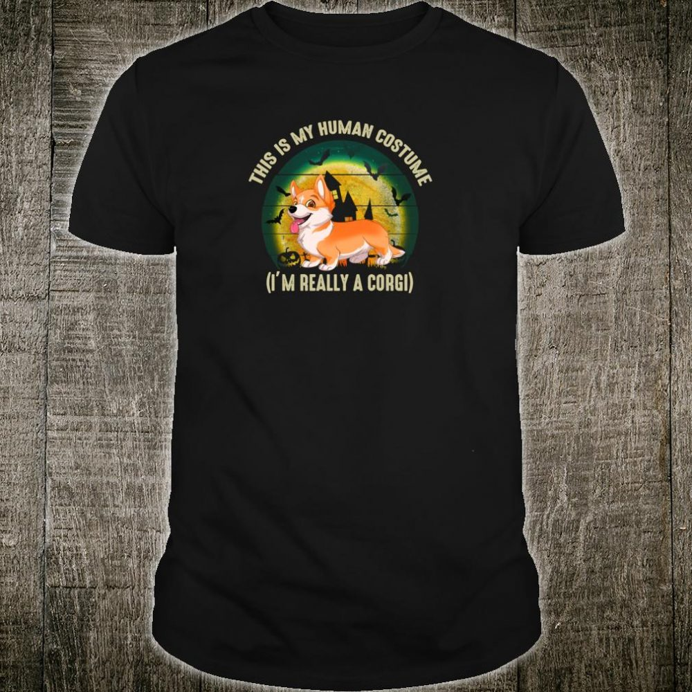 This is My Human Costume Corgi Halloween Shirt