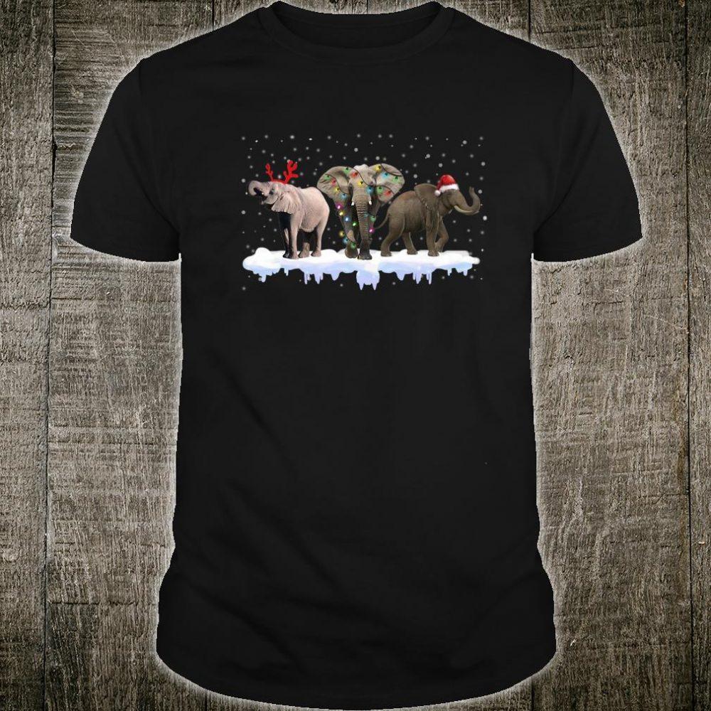 Three Elephant Christmas Matching Family Group Christmas Shirt