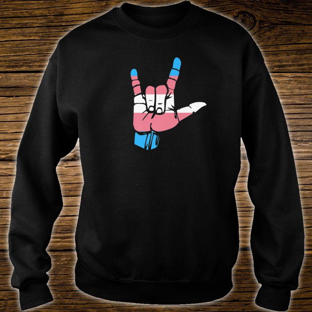 Transgender Pride Flag and Love Sign, ASL Pride Shirt sweater