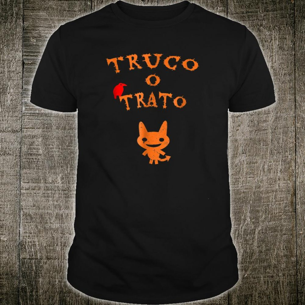 Truco O Trato Halloween With Monster And Raven Shirt
