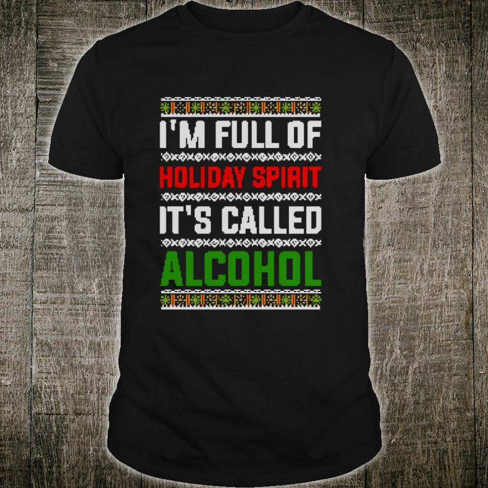 Ugly Drinking Christmas Holiday Design Alcohol Shirt
