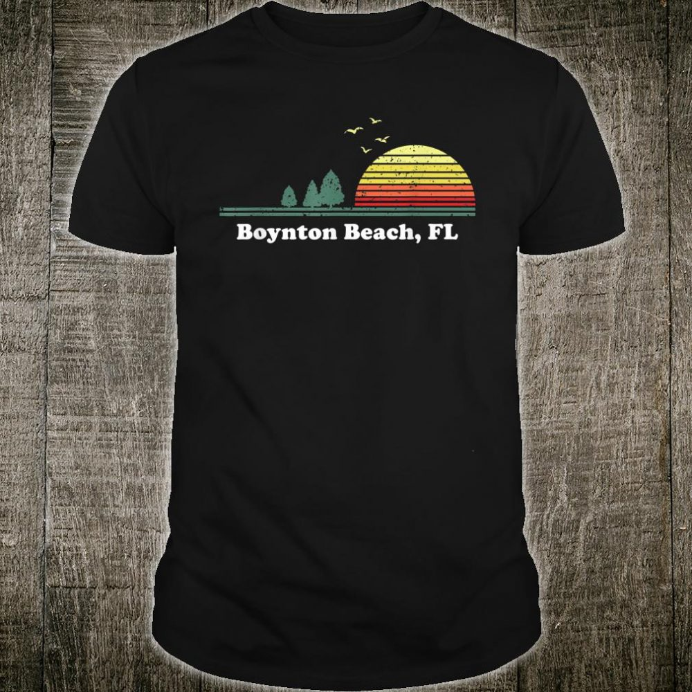 Vintage Boynton Beach, Florida Home Souvenir Print Shirt