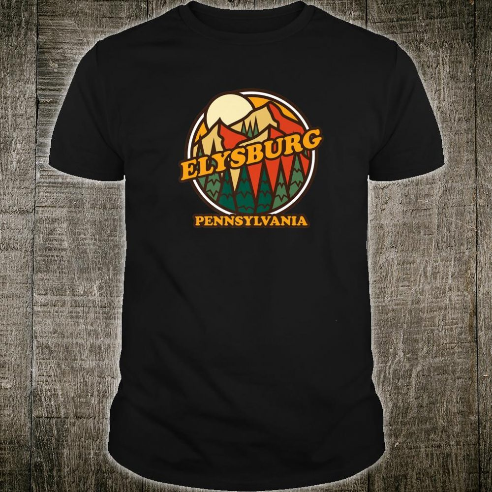 Vintage Elysburg Pennsylvania Mountain Hiking Souvenir Print Shirt