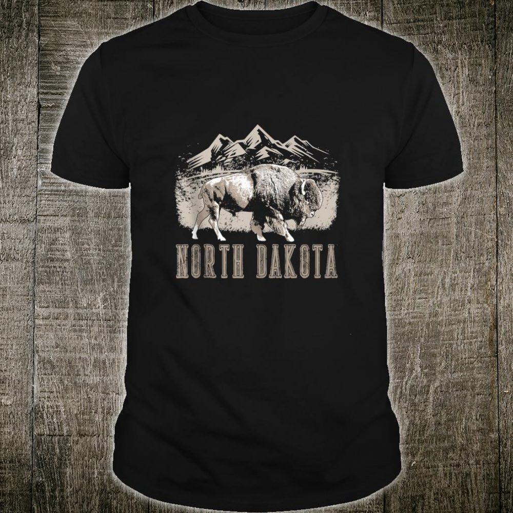 Vintage North Dakota Bison Retro Buffalo Shirt Shirt