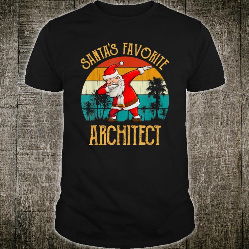 Vintage Santa's Favorite ARCHITECT Matching Family Christmas Shirt
