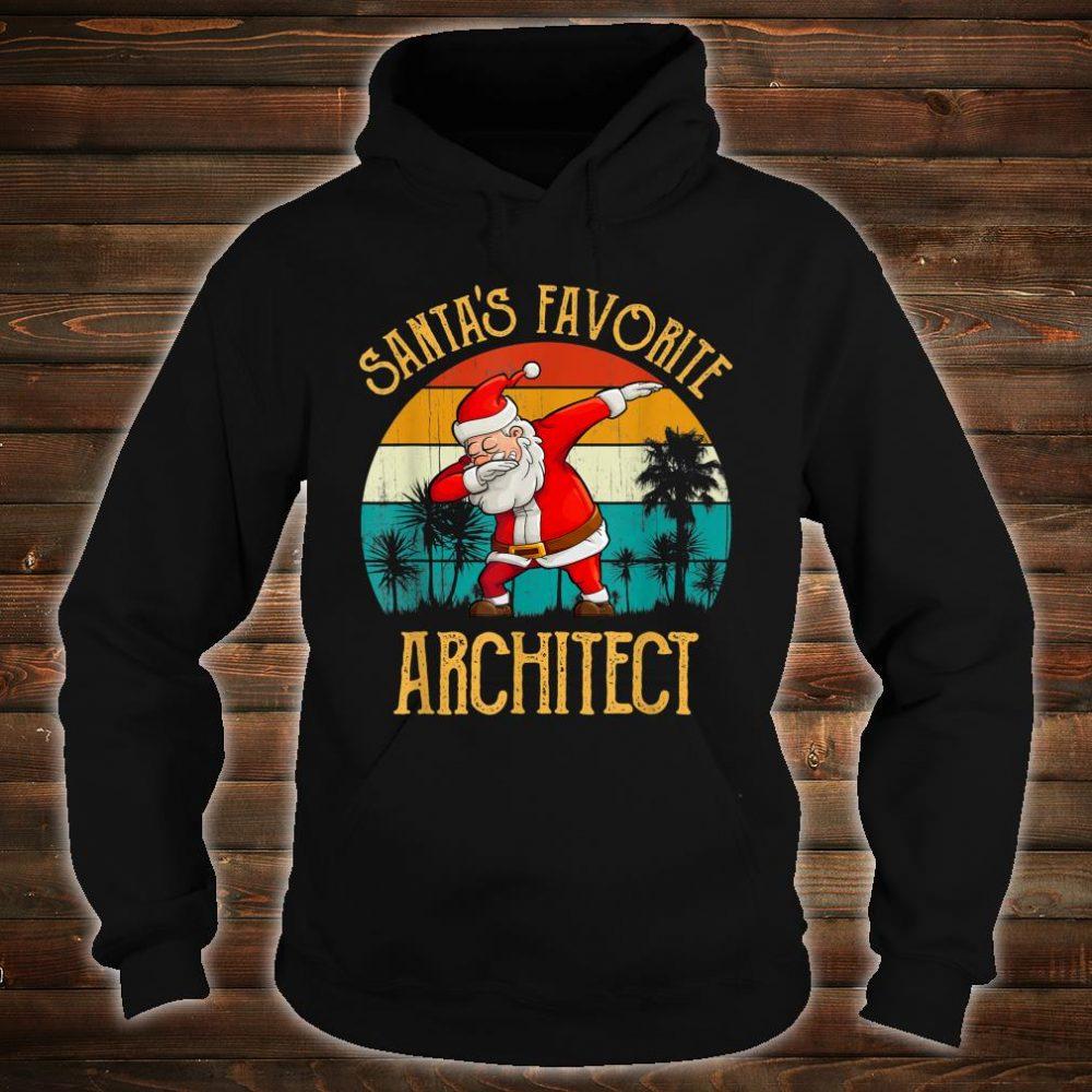 Vintage Santa's Favorite ARCHITECT Matching Family Christmas Shirt hoodie