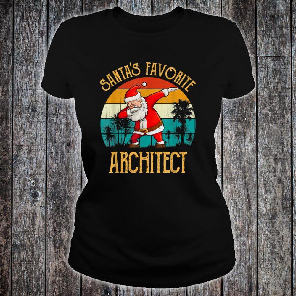 Vintage Santa's Favorite ARCHITECT Matching Family Christmas Shirt ladies tee