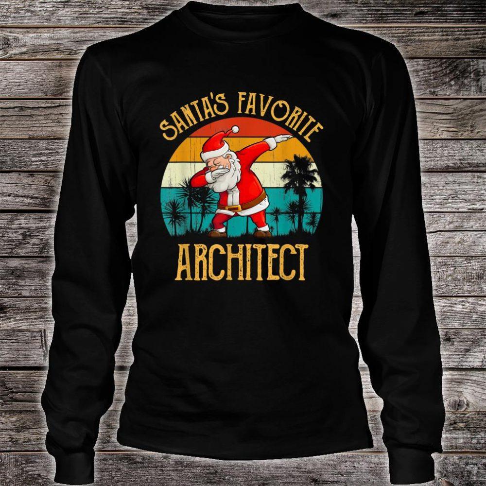 Vintage Santa's Favorite ARCHITECT Matching Family Christmas Shirt long sleeved