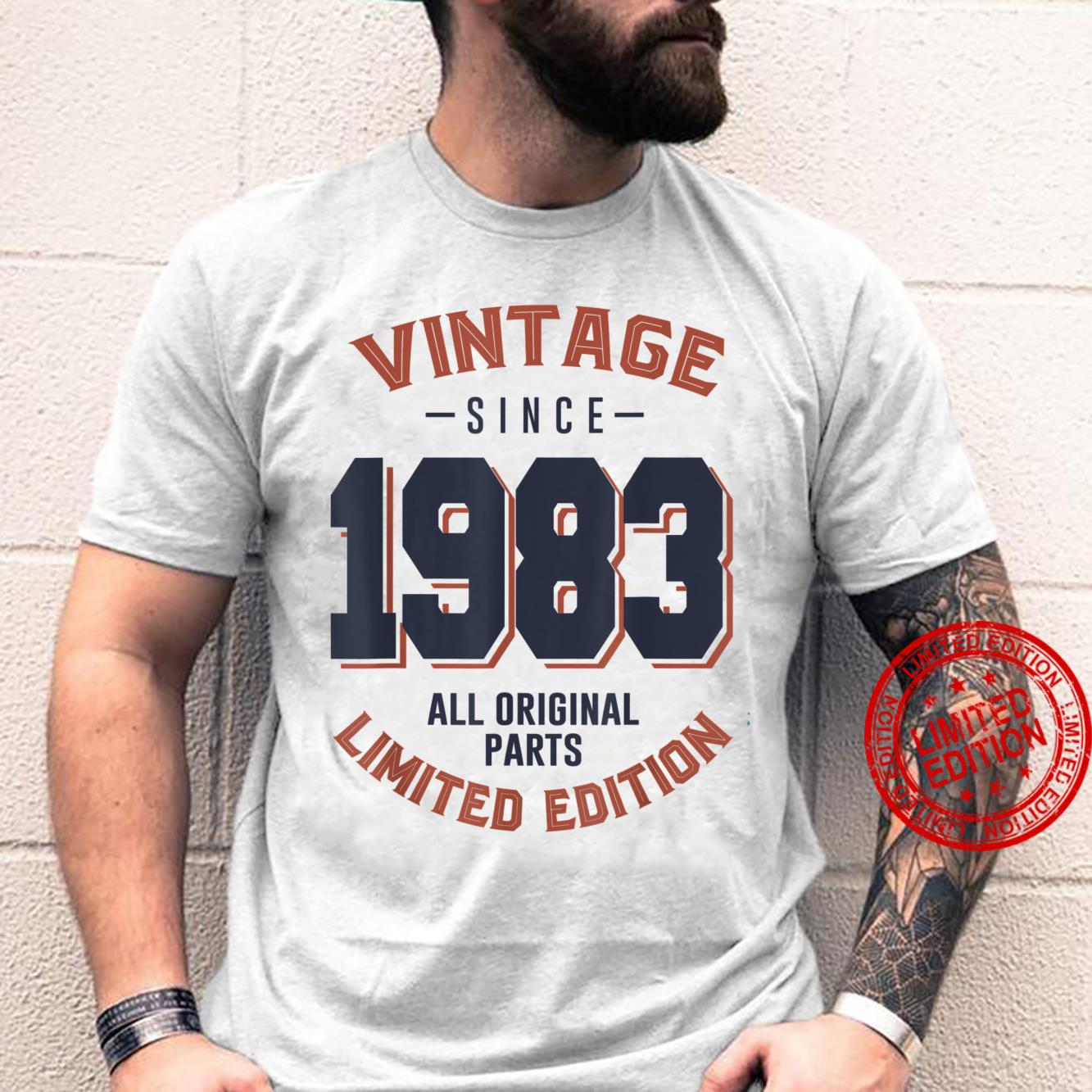 Vintage Since 1983 38th Bithday 38 Years Old Birthday Shirt