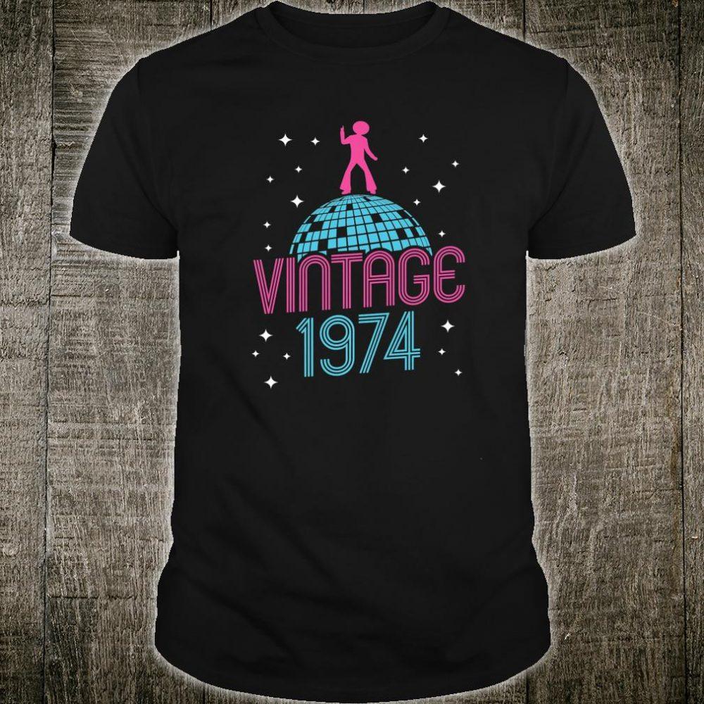 Vintage Style Dancing Retro Disco 1974 45th Birthday Shirt