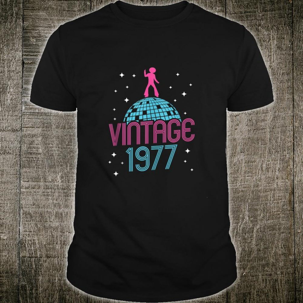 Vintage Style Dancing Retro Disco 1977 42nd Birthday Shirt