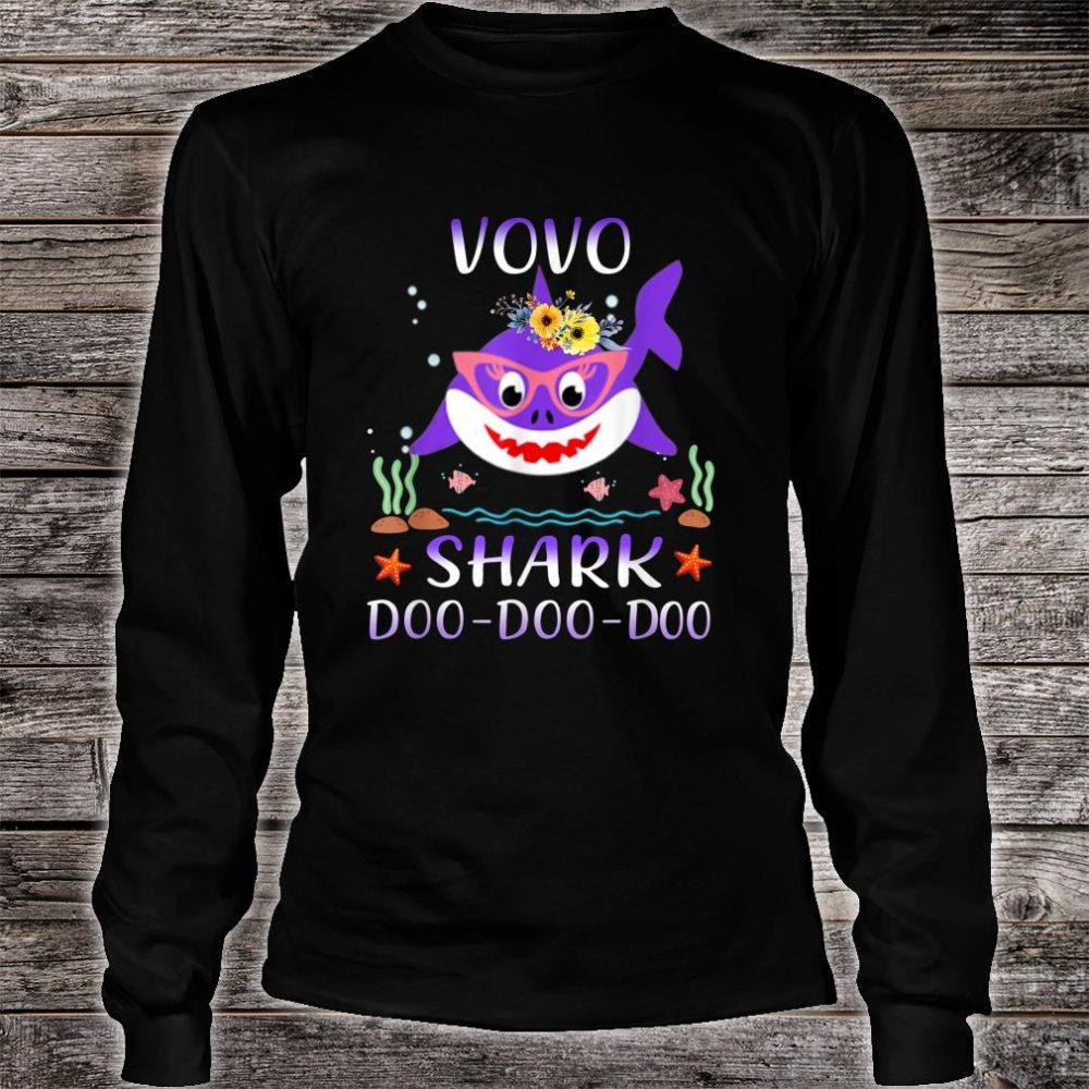 Vovo Shark Doo Doo Shirt Matching Family Shark Shirt long sleeved