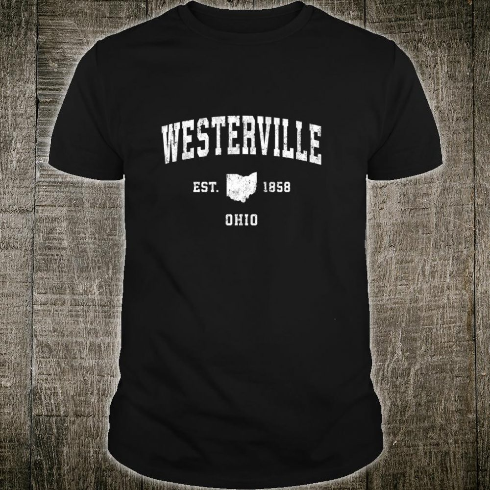 Westerville Ohio OH Vintage Athletic Sports Design Shirt