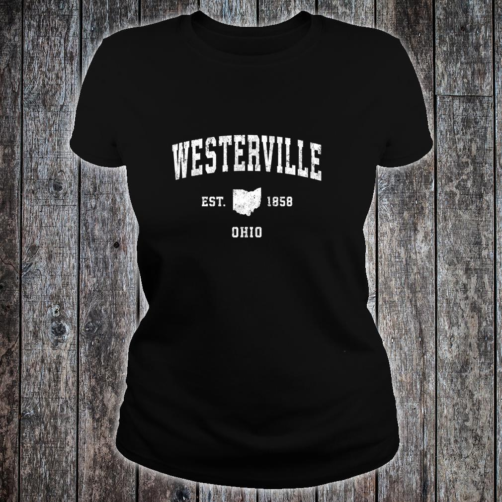 Westerville Ohio OH Vintage Athletic Sports Design Shirt ladies tee