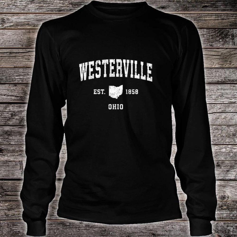 Westerville Ohio OH Vintage Athletic Sports Design Shirt long sleeved