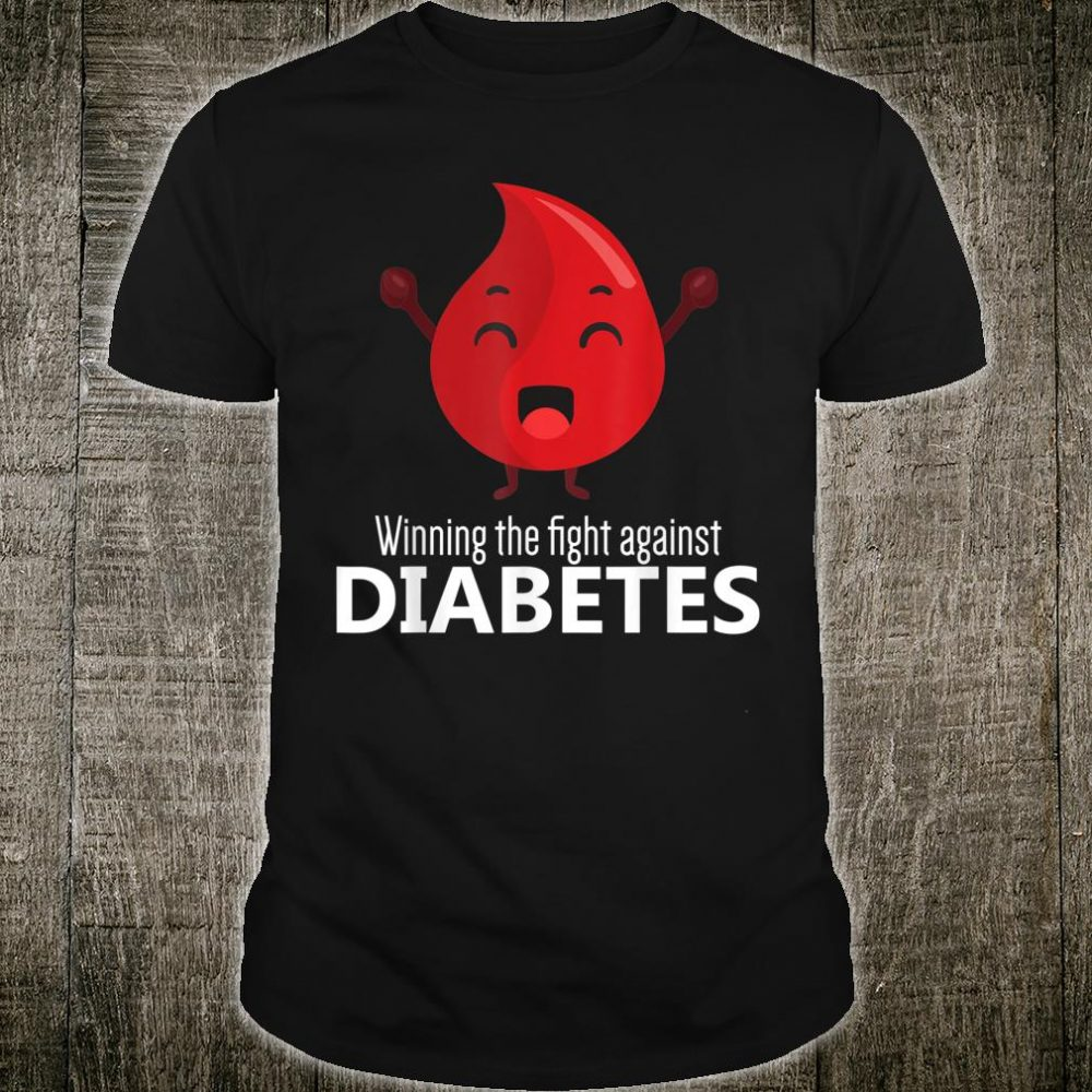 Winning The Fight Against Diabetes Diabetic Warrior Support Shirt