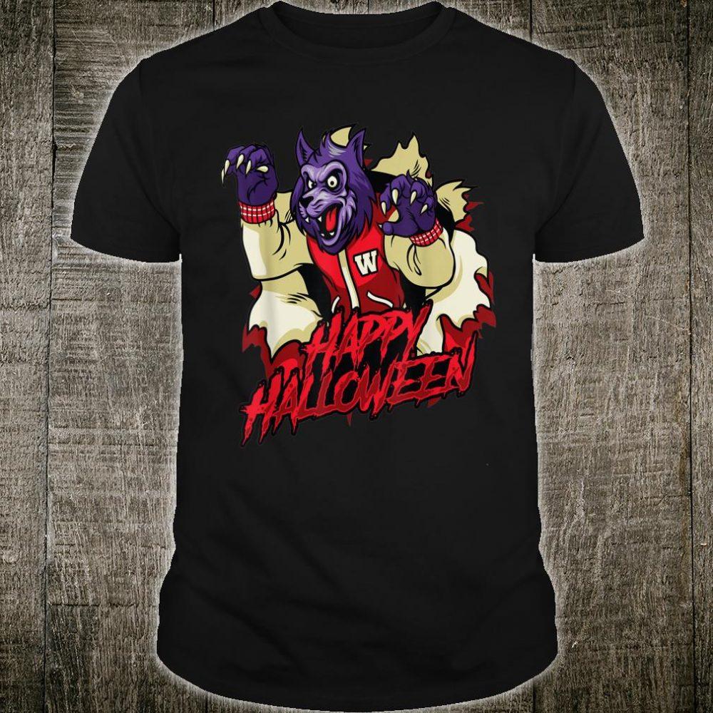 Wolf Happy Halloween Scary Retro Shirt